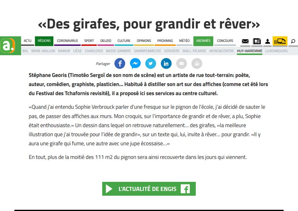 Screenshot 2020 08 30 «Des girafes, pour grandir et rêver»
