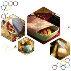 Film alimentaire réutilisable enduit à la cire d'abeille